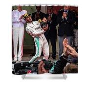 Lewis Hamilton Shower Curtain