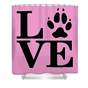 Love Claw Paw Sign Shower Curtain