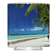 Main Beach Of Tropical Paradise Boracay Island Philippines Shower Curtain