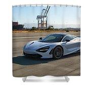 #mclaren #720s #print Shower Curtain