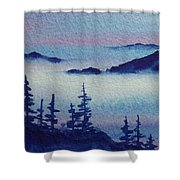10 Mile Overlook Shower Curtain