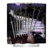 10 Of Swords Shower Curtain