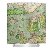Old Map Shower Curtain