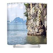 Picturesque Sea Landscape. Ha Long Bay, Vietnam Shower Curtain