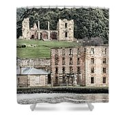 Port Arthur Building In Tasmania, Australia. Shower Curtain