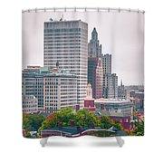 Providence Rhode Island City Skyline In October 2017 Shower Curtain
