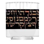 Hebrew Alphabet Shower Curtain