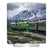 Scenic Train From Skagway To White Pass Alaska Shower Curtain