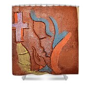 Sign - Tile Shower Curtain