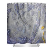10. Speckled Blue And Yellow Glaze Painting Shower Curtain