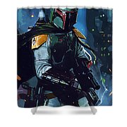 Star Wars Galactic Heroes Poster Shower Curtain