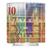 10 Swiss Franc Bill Shower Curtain