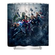 The Avengers Age Of Ultron 2015  Shower Curtain