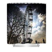 The London Eye Art Shower Curtain