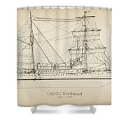 U.s. Coast Guard Cutter Northland Shower Curtain