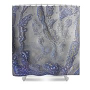 10. V1 Speckled Blue And Yellow Glaze Painting Shower Curtain
