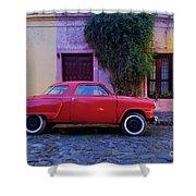 Vintage Car In Colonia Del Sacramento, Uruguay Shower Curtain
