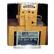 100 Days Of Oil Shower Curtain