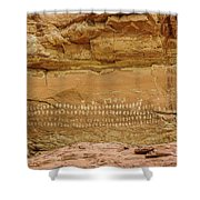 100 Hands Pictograph Panel Shower Curtain