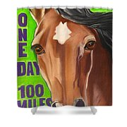 100 Mile Horse Shower Curtain