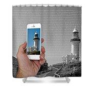 1000 Words-byron Bay Lighthouse Shower Curtain