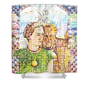 10000 Caras Son Uno Shower Curtain