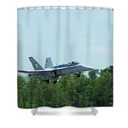 100_3413 F-18 Hornet Shower Curtain