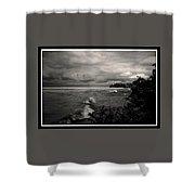 100409-260-bw Shower Curtain