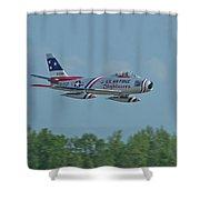 100_4272 F-86 Sabre Fighter Jet Shower Curtain