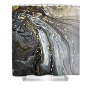 #1006 Gold Waves Shower Curtain