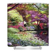 Water Lily Lake Shower Curtain