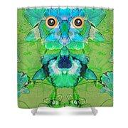 1045   Flower Owl 2017 Shower Curtain