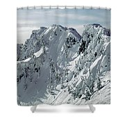 104726 Cornices On Denny Mountain Shower Curtain