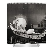 Silent Still: Man & Woman Shower Curtain by Granger