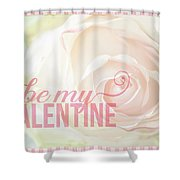 10758 To My Valentine Shower Curtain
