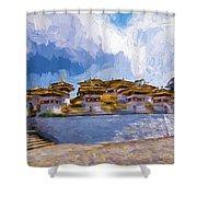 108 Stupas Shower Curtain
