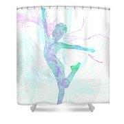 10835 The Gymnast Shower Curtain