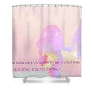 10918 Card For Mom Shower Curtain
