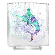 10961 Swordfish Shower Curtain