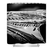 1946 Desoto Hood Ornament -169bw Shower Curtain