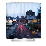 10th Avenue Lights Shower Curtain