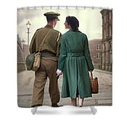 1940s Couple Shower Curtain