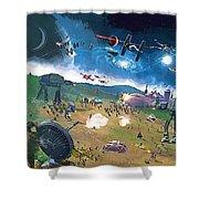 2 Star Wars Poster Shower Curtain