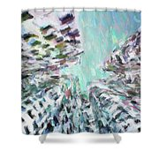 Abstract Digital Oil Painting Full Of Texture And Bright Color Shower Curtain