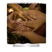 Asian Massage Spa Natural Organic Beauty Treatment Shower Curtain