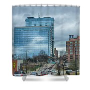 Atlanta Downtown Skyline Scenes In January On Cloudy Day Shower Curtain