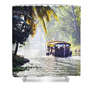 Backwaters Kerala - India Shower Curtain