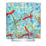 Birds Symphony Shower Curtain
