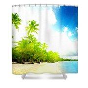 Graphic Landscape Shower Curtain