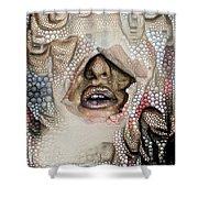 Hidden Face With Lipstick Shower Curtain